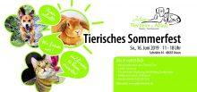 Tierisches Sommerfest am 16.06.2019 von 11 – 18 Uhr